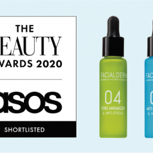 El sérum Reductor de Poros y el sérum Antipolución, finalistas de The Beauty Awards 2020 Asos