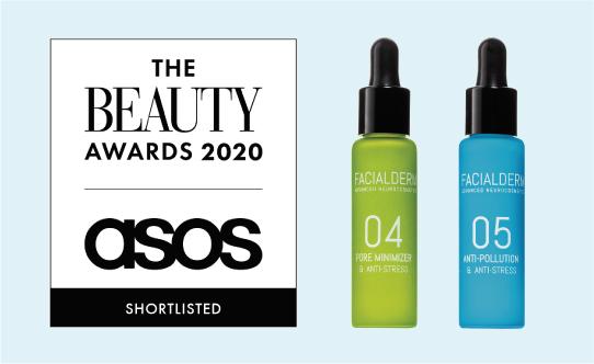 El sérum Reductor de Poros y el sérum Antipolución, finalistas de The Beauty Awards 2020 Asos